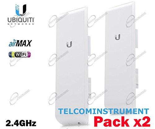 Ubiquiti Networks 2X NanoStation M2: NSM2 2,4 GHz Hi-Power 2x2 MIMO Station, 2er-Set