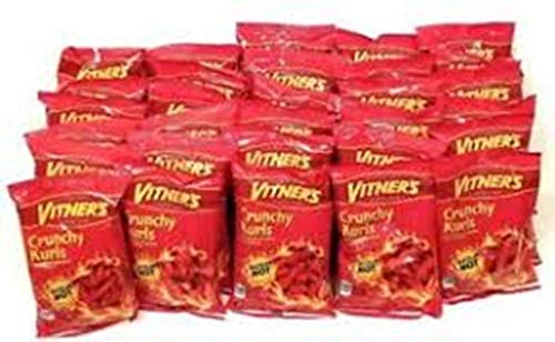 Vitners Sizzlin Hot Cheese Crunchy Curls. A Chicago Original 50 Pack 1oz Bags (50 pack)