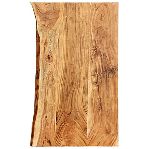 vidaXL Legno Massello di Acacia Piano per Lavabo Bagno Ripiano per Lavello Rustico Mensola per Lavandino Accessori per Bagno 100x55x3,8 cm