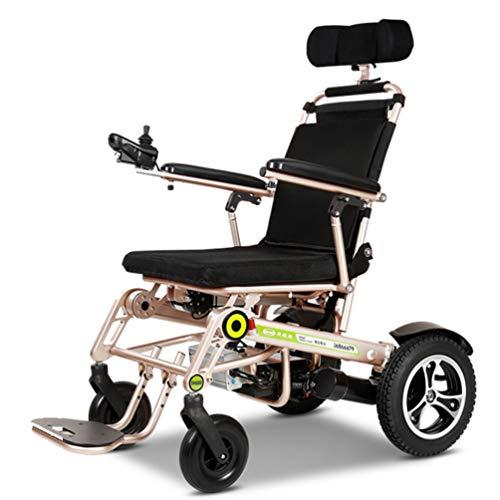 HATHOR-23 Vollautomatischer Rollstuhl, Intelligenter Deluxe-Klapprollstuhl Mit Bremse, 200-W-Turbo-Vortex-Motor, Handysteuerung, Aluminiumlegierung, LED-Frontleuchte