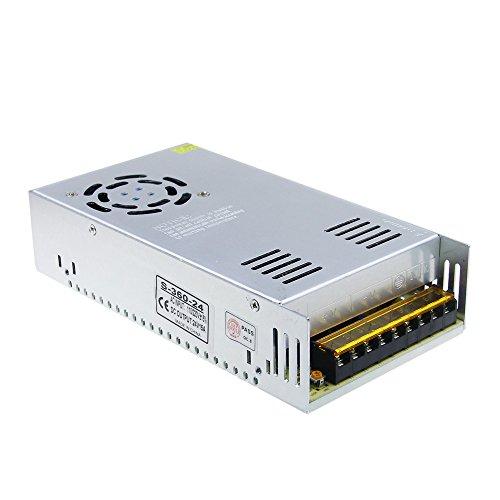 ALITOVE DC 24V 15A 360W Power Supply Universal Regulated Switching Transformer Adapter LED Driver 110V/220V AC Input for LED Strip CCTV Radio Kentucky