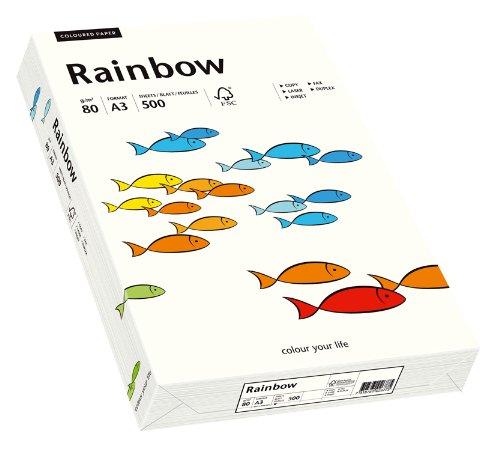 Papyrus 88042229 Drucker-/Kopierpapier farbig, Bastelpapier: Rainbow 80 g/m², A3, 500 Blatt, naturweiß
