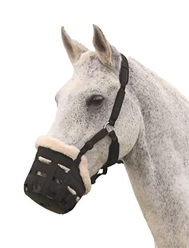 Deluxe-Weidenmaulkorb von Shires für Pferde, aus Nylon Cob schwarz