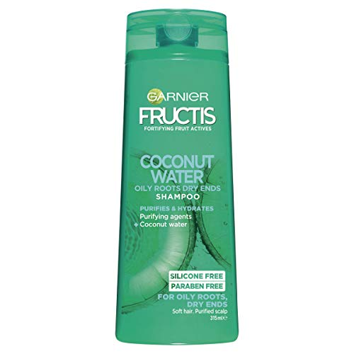 Garnier Fructis Coconut Water Shampoo for Oily Roots Dry Ends, 315ml
