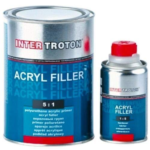 Troton 1L Acryl Primer 5:1 Grau 2K 5:1 HS Füller Grundierung Acrylgrundierer Ink. Härter