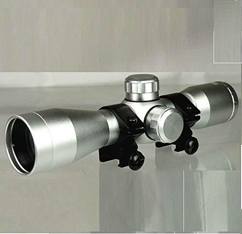 DB TAC INC 4x32 Anodize Silver Color Mil-dot Reticle Slug Scope Picatinny Weaver Mounted Aluminum Hunting Optics Accessory