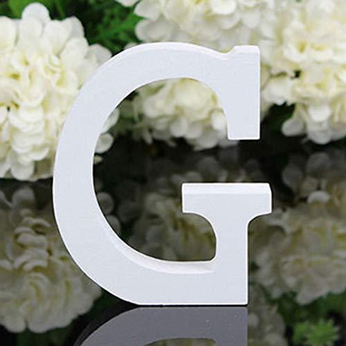 X-DAAO 26 Grandes Lettres en Bois de l'alphabet à Suspendre au Mur Décoration de la Maison Cadeau G