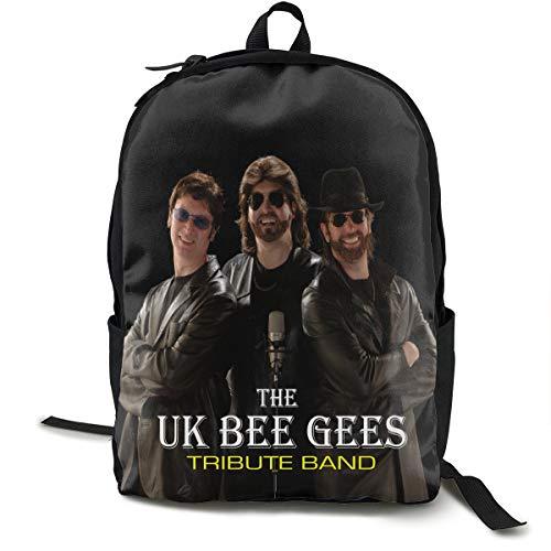 N/A Bee Gees Paquet Classique Sac à Dos Cartable Noir Sac Voyage Travail Polyester Unisexe Ecole