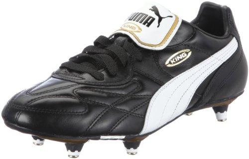 PUMA Herren King Pro SG Fußballschuhe, Black-White-Team Gold, 45 EU