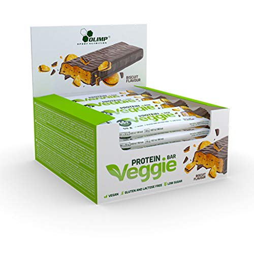 Olimp Veggie Protein Bar, 24 x 50 g Riegel (Biscuit)