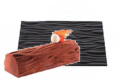 tortaflexシリコン製テクスチャーtextureシートwoodウッド木目模様半月トヨ型ロールケーキBuche型対応tex01