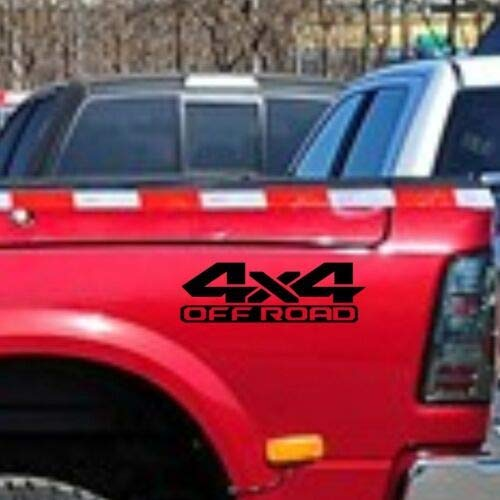 WYJW 4x4 auto OFF ROAD Zijkant Zwart voor RAM 1500 decal Vinyl Decal 2PCS CF738