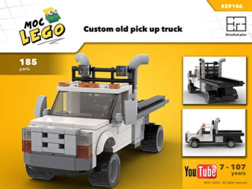Custom old pick up truck (Instruction Only): MOC LEGO (English Edition)