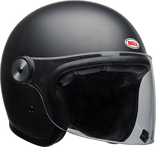 Bell Casco Moto Bell Cruiser Riot Casco Adulto (Nero Opaco Solido) S Nero Opaco