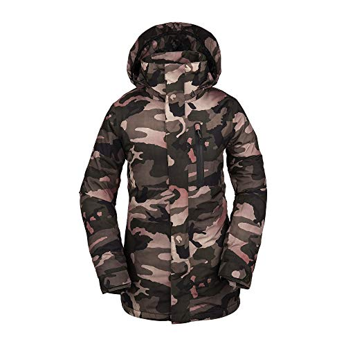 Volcom Women's Eva Insulated Gore-tex Snow Jacket, Faded Army, Large