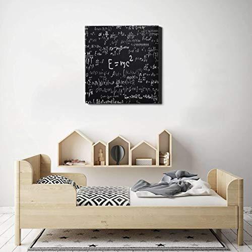 Wandmalereien für Wohnzimmerformeln und -berechnungen in Physik und Mathematik Leinwanddrucke für Benutzerdefinierte Leinwanddrucke 50 x 50 cm (20 x 20 Zoll) Wandbilder für Wohnzimmer-Schlafzimmerdek