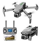 Drone professionnel ultraléger et portable avec caméra 4k pour adultes FPV HD Live Video et GPS Quadcopter RC de retour pour adultes débutants avec moteur sans balai Suivez-moi 5G WiFi Transmission
