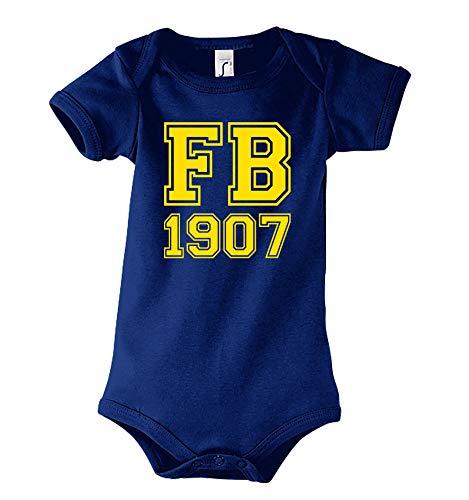 TRVPPY Baby Kurzarm Body Strampler Modell Fenerbahce, Gr. 6-12 Monate, Navyblau