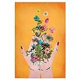 artboxONE Poster 45x30 cm Menschen Frida`s Hands (orange) -