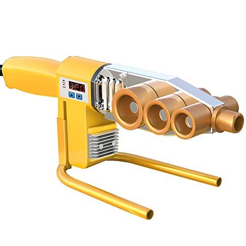 BOFEISI Wasser Rohrschweißer, Kunststoffrohr Schweiß Fusions Maschine 1000W Digitales Auslesen 20-63Mm Für PPR, PE, PP, PVC-Rohr 220V