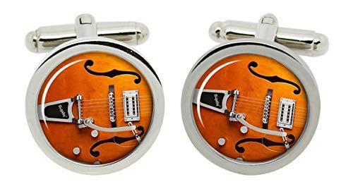 Gift Shop Gretsch Gitarre Manschettenknöpfe in Chrom Verpackung