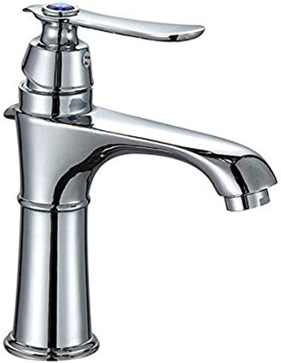Basin Faucet Sink Faucet Retro Pure Copper Hot and Cold Water Faucets Single Handle Single Hole Washing Hot and Cold Water Sink Faucets Sink Faucets