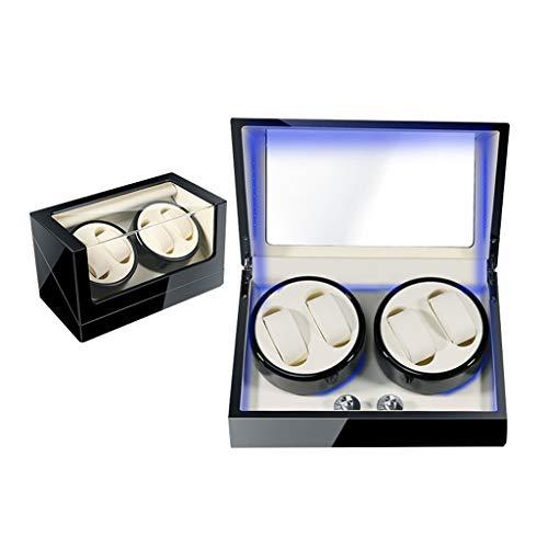 ZCY Automatischer Uhrenbeweger Uhrenbox Watch Winder, 3 Drehrichtung Batterie für Automatikuhren aus LED (Farbe : A14-2)