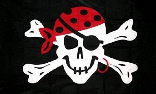 U24 vlag piraat met oorbel piratenvlag 90 x 150 cm