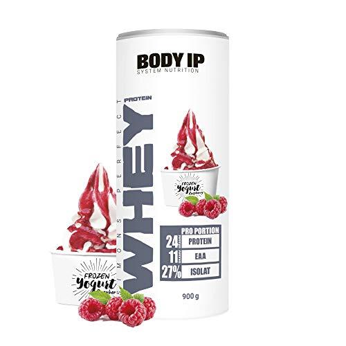 BODY IP Simons Perfect Whey Protein | Eiweißpulver für den Muskelaufbau | Frozen Yogurt Raspberry | hoher BCAA und EAA Anteil | 30 Portionen