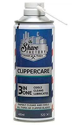 The Shave Factory Clippercare 400 ml Blade Spray (Pack of 1)