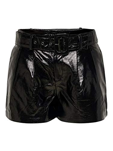 ONLY Damen Shorts Kunstleder 38Black