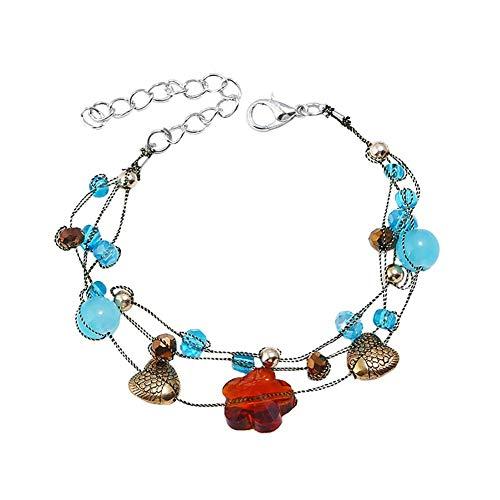 GanYu Geometric Bracelet Woman Bohemia Bracelets Adjustable Fashion Jewelry Beautiful Accessories Gift Birthday Holiday Valentine's Day
