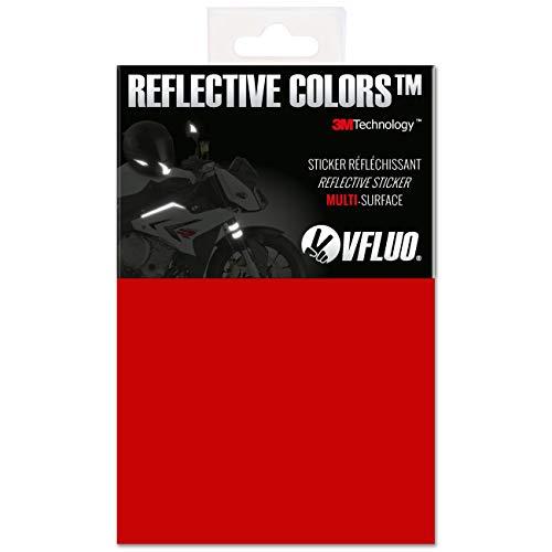 VFLUO 3M Reflective Colors™, Kit de Pegatina Retro Reflectante a Cortar para Casco de Moto/Motocicleta/Bicicleta, 3M Technology™, Hoja de 10 x 15 cm, Rojo rubí