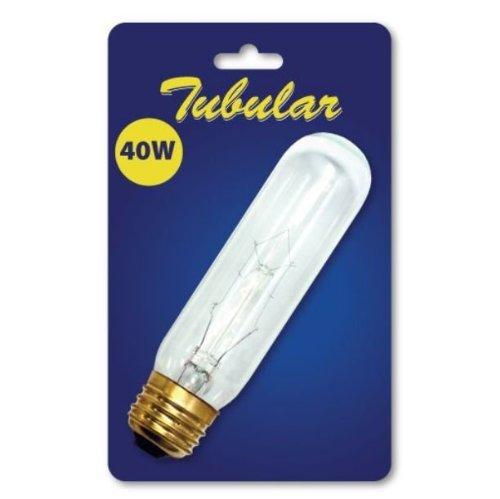 Bulbrite B40T10C 40-Watt Incandescent 120V T10 Tubular Bulb, Clear - 2 Pack