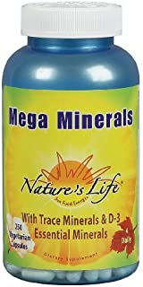 Nature's Life - Mega Minerals-Full Range, 250 capsules