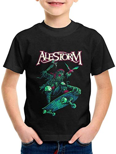 Alestorm Boys T-Shirts Round Neck 3D Print Children's Short Sleeve Tees Black,Black,3T