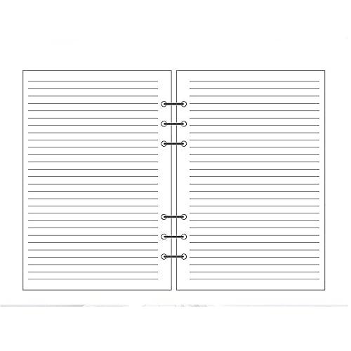 GUODUN Notebook Glitter,Koreanisch Reißverschluss Planer für Tagebuch 6 Hole Binder Clip Handbuch Seiten Cover Loose-Leaf(A6-40 Sheets,Black&White)