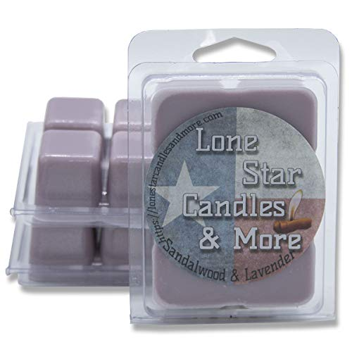 Sandalwood and Lavender, 3-Pack Premium Lone Star Scented Wax Melts, Hand Poured Wax Melts, An Orange Sweetened, Rich Blend of Spiced Woods and Lavender, 18 Maximum Scented Warmer Cubes