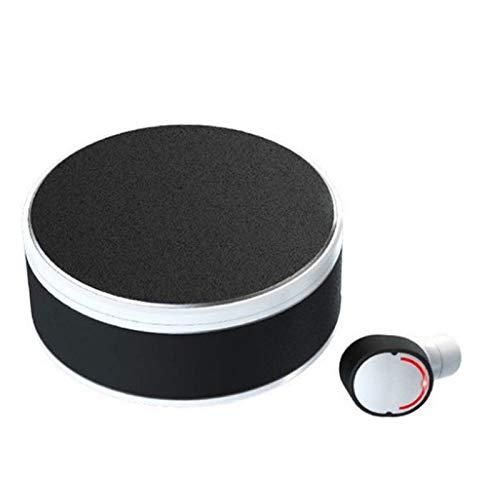 Wsaman Auriculares con cancelación de Ruido,Auriculares Bluetooth Deportivos con Estuche de Carga Rápida para Teléfono/Celular/Running, Auriculares Deportivos,White Single