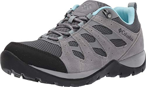 Columbia Women's Redmond V2 Hiking Shoe, Graphite, Blue Oasis, 10