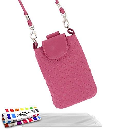 'Tasche Alcatel OT/6030[CityPoche Premium] [Rosa] von MUZZANO + 3Schutzfolien Set