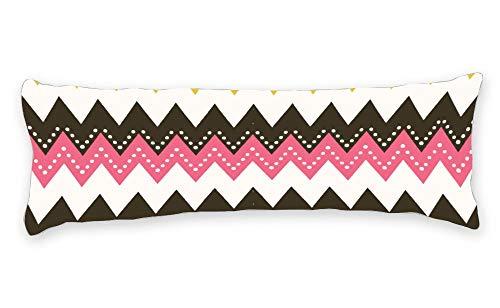 Fhdang Decor Taie d'oreiller de Corps avec Fermeture éclair Maternité Grossesse Long Body Pillow Cover Coton, Coton, King 5ft (60'')