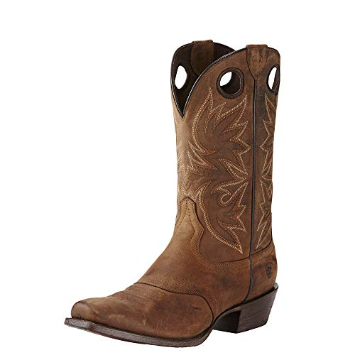 Ariat Men's Circuit Striker Western Cowboy Boot, Weathered Brown, 9.5 D US