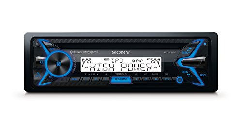 Sony MEXM100BT 160W RMS Marine CD Receiver with Bluetooth (Black) and SiriusXM Ready