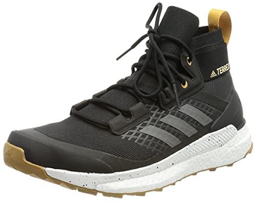 adidas Herren Terrex Free Hiker Primeblue Walking Shoe, Core Black/Crystal White/Mesa, 44 EU