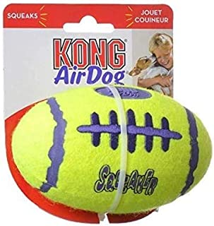 """KONG Air Squeakers Football Medium - 5"""" Long (for Dogs 20-45 lbs) - Pack of 2"""
