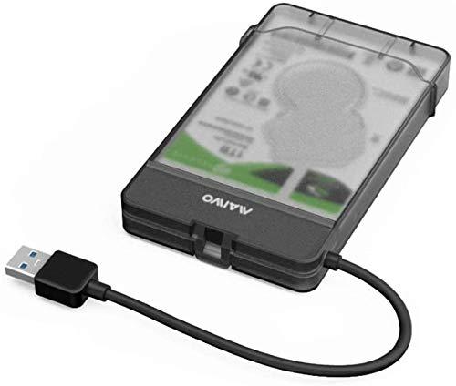 Maiwo K104 Case Esterno per Disco Rigido 2.5 inch USB 3.0 SATA SSD Enclosure Hard Disk Case, Strumento Gratuito,Supporto UASP, Tool Free,6TB
