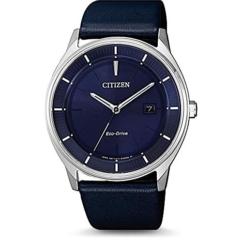 Citizen Reloj Analógico para Hombre de Cuarzo con Correa en Cuero BM7400-12L