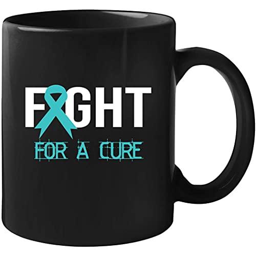 Ovarian Cancer Awareness - Taza de lucha por una cura de 11 oz negro