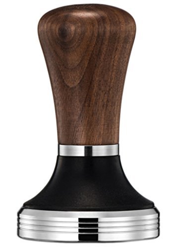 Diguo Elegance Wooden Coffee Tamper. Flat Espresso Tamper for 58mm Portafilter. Stainless Steel Flat with Height Adjustable Wooden Handle. Barista Espresso Tamper(58mm Tamper)